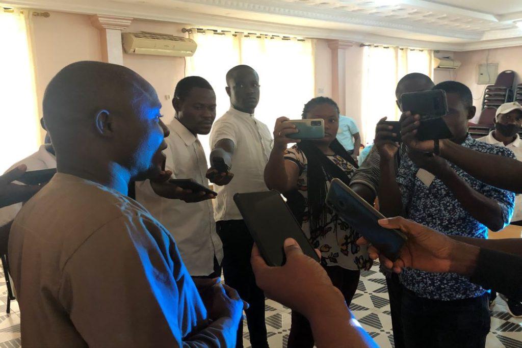 liberia national elections commission training media practicioners
